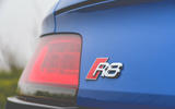 Audi R8 2019 UK first drive review - rear badge