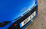 Audi R8 RWD 2020 UK first drive review - front bumper