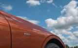 Bentley Continental GT Convertible V8 2020 UK first drive review - side badge