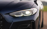 BMW 420i Coupe 2020 UK first drive review - headlights