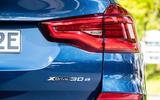 BMW X3 xDrive30e 2020 first drive review - rear badge