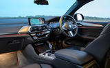 BMW X4 2018 UK first drive review dashboard
