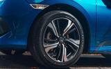 Honda Civic saloon 2018 UK first drive review alloy wheels