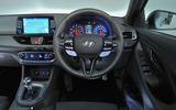 Hyundai i30 N 2018 UK review driver's seat