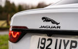 5 Jaguar XF 2021 UK first drive review rear badge
