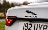 5 Jaguar XF 2021 UK first drive review rear badge