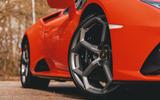Lamborghini Huracán Spyder 2020 UK first drive review - alloy wheels