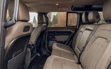 Land Rover Defender 110 2020 UK first drive review - rear seats