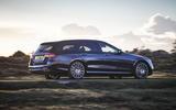 5 mercedes benz e class 400d estate 2021 uk first drive review hero rear