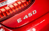 Mercedes-Benz E-Class e450 Cabriolet 2020 UK first drive review - rear badge