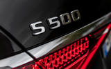 Mercedes-Benz S-Class S500 2020 first drive review - rear badge