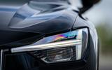 Polestar 2 2020 UK first drive review - headlights