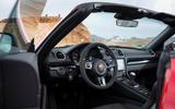 Porsche Boxster T 2019 first drive review - dashboard