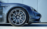 Porsche Taycan Turbo 2020 UK first drive review - alloy wheels