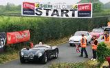 5 Shere Hillclimb 2021 event start line