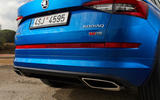Skoda Kodiaq vRS 2018 first drive review - exhausts
