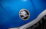 Skoda Octavia hatchback 2020 UK first drive review - front badge