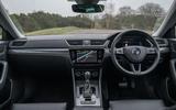 Skoda Superb IV 2020 UK first drive review - dashboard