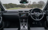 Skoda Superb IV 2020 UK first drive review - dashboard