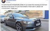 Stolen Audi - static front