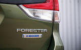 Subaru Forester eBoxer 2019 UK first drive review - rear badge