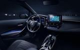 Toyota Corolla 2018 prototype first drive - cabin