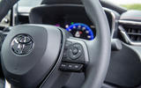 Toyota Corolla hatchback 1.8 hybrid 2019 UK review - steering wheel