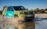 Volkswagen T-Cross prototype 2019 first drive review wading right