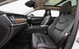Volvo V90 B5 2020 UK first drive review - front seats