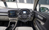 Volvo XC40 T5 2019 UK first drive review - steering wheel