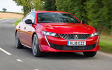 Peugeot 508 front on road