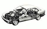 E34 BMW 5 Series cutaway