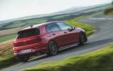 Britain's best affordable drivers car 2020 - VW Golf GTI - cornering rear