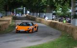 McLaren 570S on the Goodwood hillclimb - from behind the wheel