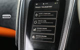 McLaren 570S Track Pack infotainment screen