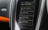 McLaren 570S Track Pack infotainment screen
