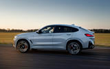 58 BMW X4 2021 LCI official tracking side