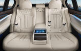 Long-wheelbase BMW 5 Series Li  rear seats