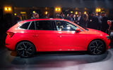 Skoda Scala official reveal stage side