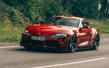 AC Schnitzer Toyota Supra 2020 first drive review - cornering front