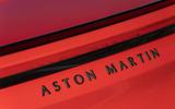 Aston Martin DBS Superleggera Volante 2019 first drive review - rear badge