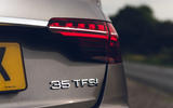 Audi A4 35 TFSI 2019 UK first drive review - rear lights