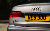6 Audi A6 TFSIe 2021 UK first drive review rear lights