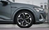 6 Audi E tron S Sportback 2021 UK first drive review alloy wheels