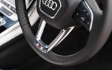 6 Audi Q7 TFSIe 2021 UK FD steering wheel