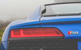Audi R8 2019 UK first drive review - rear lights