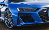 Audi R8 RWD 2020 UK first drive review - front grille