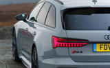 Audi RS6 2020 UK first drive review - rear end