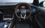 Audi RS Q8 2020 UK first drive review - dashboard
