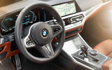 BMW 3 Series 330e 2019 first drive review - steering wheel